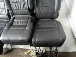 2009 Discovery 3 Seats Black Soft Leather x7 With Fixings Land Rover K13030