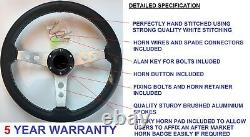 3 Spoke Steering Wheel & Snap Off Boss Kit Fit 48 Spline Land Rover Defender New