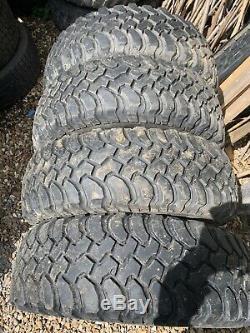 4 X BF Goodrich Mud Terrain Tyres 235 70 16 LAND ROVER OFF ROAD All Terrain
