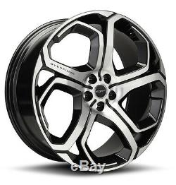 4 x Overfinch 23 Xenon Gloss Black Diamond Turned Alloy Wheels with Tyres
