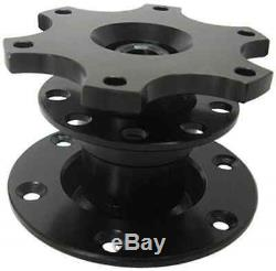 BLACK sport race aftermarket steering wheel boss kit SNAP OFF mechanism