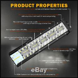 Curved 52 LED Light Bar Off Road 4x4 Driving Roof Bar 18W pods light wiring