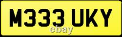 Dirty Car Reg Number Plate M333 Uky / Muddy Vehicle Land Rover Mud Dirt Off Road