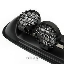 Four White Lens 4X4 Off Road Roof Top Fog Lamp H3 Bulbs Light Bar SUV #601 B2