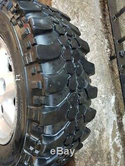 GENUINE LAND ROVER DEFENDER ALLOY WHEELS with OFF ROAD TYRES