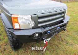 LAND ROVER DISCOVERY III 3 and IV 4 04-15 FRONT STEEL BUMPER WINCH OFF -ROAD