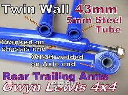 Land Rover Discovery1 Cranked Rear Trailing Arms 4x4 off road 2 inch lift GL4x4