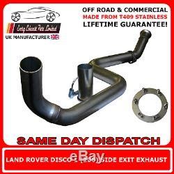 Land Rover Discovery Mk 1 200TD Off Road Stainless Steel Side Exit Exhaust
