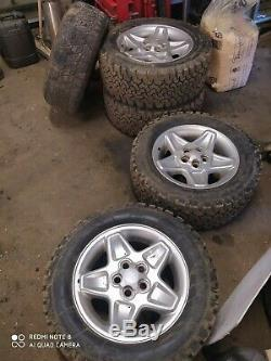 Land Rover Range Rover P38 Discovery alloy wheels with off road tyres set of 5
