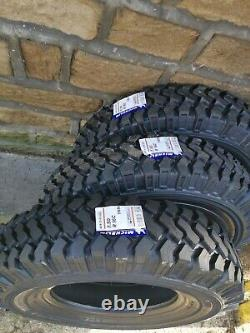 Landrover Defender Michelin 4x4 O-R XZL 7.50/16C Tyres Chunky Off Road