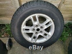 Landrover Discovery 3 17 Alloy Wheels Kumo, Off Road Tyres + 1 unused road tyre