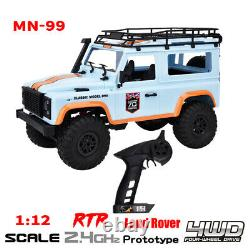 MN-99 2.4G 1/12 4WD Crawler RC Car RTR Off-road Vehicle Simulation Land Rover