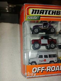 Matchbox 10 pack OFF ROAD ADVENTURE with LAND ROVER and LAND CRUISER