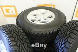 New take off set of 5 Land Rover Defender boost alloy wheels + tyres 235/85 16