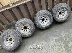 Off Road Mud Tyres And Land Rover Modular Wheels 31 x 10.50 r15 Make An Offer