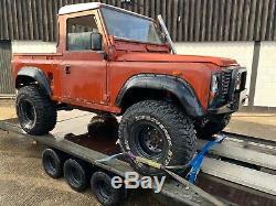 Off road Land Rover Defender 90 truck cab lift kit, terrafirma parts fun project