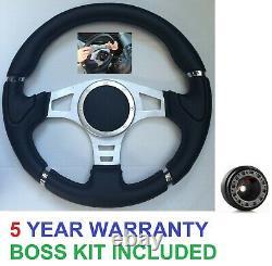 Racing Steering Wheel And Snap Off Boss Kit Fit 48 Spline Land Rover Defender \