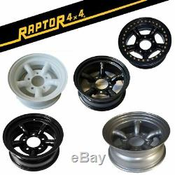 Raptor 4x4 Land Rover Steel Wheels 7x16 -25 Offset Defender Discovery 1 Off Road