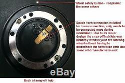 Small Steering Wheel & Snap Off Boss Kit Fit 48 Spline Land Rover Defender #blac