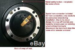 Steering Wheel And Snap Off Boss Kit 48 Spline Land Rover Defender 3 Spoke Black