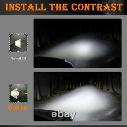 Winch Roof Bumper Straight Light Bar LED 52'' + 22 Spot Flood Off Road 4x4