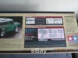 1 / 10ème Tamiya R / C Land Rover Defender 90 4wd Off Road Voir Des (58657)