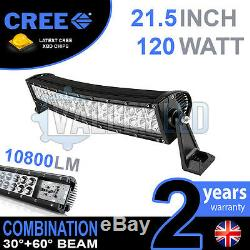 20 120w Courbe Led Cree Light Bar Combo Ip68 Lumière Off Road Driving 4x4 Bateau