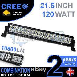 20 120w Led Cree Light Bar Combo Ip68 Xbd Conduite En Alliage Léger Hors Route 4wd Bateau