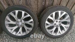 21 Véritable Range Rover Vogue Alloy Wheels Diamant Gris Devenu Nouveau Continental