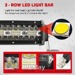 32 Pouces Sur Le Terrain A Conduit Bar Lumière Lampes Led 12v + 2x Gousses Travail Led + Harnais