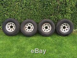 4 Pneus Boue Et Modulaires Roues Pour Land Rover Defender 31 / 10,50 / 15 Hors Route 4x4