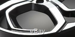 4 X 23 Overfinch Xenon Gloss Black Diamond Turned Jantes En Alliage Avec Des Pneus