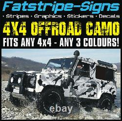 4x4 Offroad Car Camo Graphics Stickers Décals Camouflage Pour S'adapter À Land Rover
