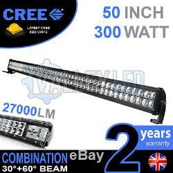 50 300w Led Cree Light Bar Combo Ip68 Xbd Conduite En Alliage Léger Hors Route 4wd Bateau