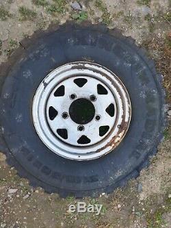 5 X Land Rover Defender 90 110 Wella Steel Wheels & Off Road Pneus 31,10 / 50 15