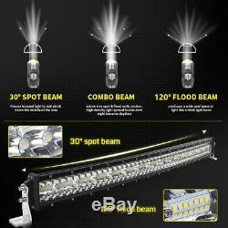 7d 52inch 4200w Courbe Led Light Bar Combo Faisceau Conduite Hors Route Lamp Vs 44 54