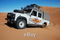 Alu Schwellerschutz Land Rover Defender 130 Td5, Tdi, Td4 Aluminium Riffelblech