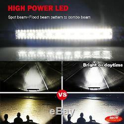 Courbe 52 Led Light Bar Off Road En 4x4 Toit Bar 18w Pods Câblage Lumière
