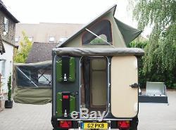 Jurgens Oryx Off-road Expedition Caravane Peut Accueillir Deux Personnes, Land Rover Tonga Vert