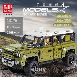 Land Car Rover Defender Moc Off Road Vehicle Building Blocks Jouets Pour Enfants