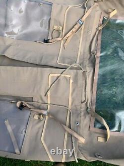 Land Rover 90 Cagoule Sable, Fenêtres Latérales En Toile De Coton 18oz Décollent