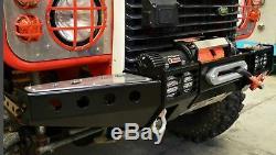 Land Rover Defender 90 110 130 Avant Winch Pare-chocs Équarrie Protection Route
