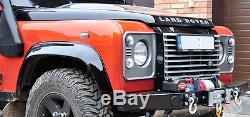 Land Rover Defender Avant En Acier Pare-chocs Treuil 4x4 Hors Route