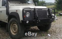 Land Rover Defender Avant En Acier Pare-chocs Winch Off -road