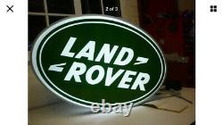 Land Rover Double Face Illuminée Enseigne Garage Concessionnaire 90 110 Hors Route 1