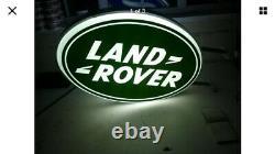 Land Rover Double Face Illuminée Enseigne Garage Concessionnaire 90 110 Hors Route 3