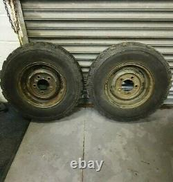 Land Rover Wolf Defender 2x Goodyear G90 7.5 R16c 116/114 N Pneu Hors Roues