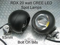 Led Rdx Lampe Spot / 20w Lumières Led Cree Defender / Off Roader / Trayback / Comp Safari