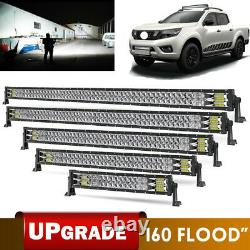 Led Work Light Bar Spot Flood Roof Lights Driving Lamp Off Road S'adapte Jeep Pickup