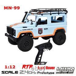Mn-99 2.4g 1/12 Crawler 4wd Rc Car Rtr Tout-terrain Simulation De Véhicule Land Rover